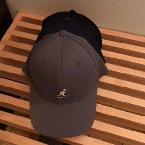 3 kangol baseball caps